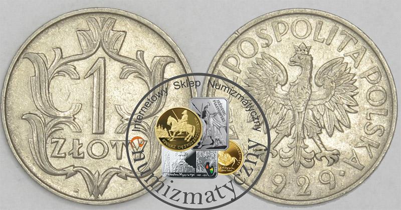 1 Z Oty Rok 1929 Moneta Starannie Wyselekcjonowana